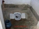 Caption: Present situation of the use worthy toilet of the school.