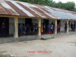 Caption: Front view of Subdia Govt. Primary School