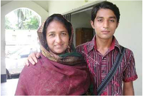 Mother,Nasrin sultana and son, sohel passed HSC together