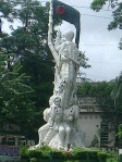 Sadhinotar Sangram or Struggle for independence Sculpture-Structural view